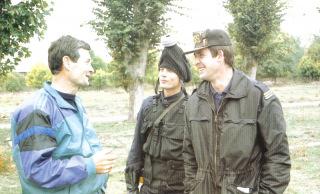 Avec son ami le Capitaine Picon.
