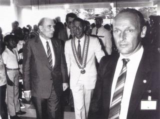 Voyage de Monsieur Mitterrand aux Antilles