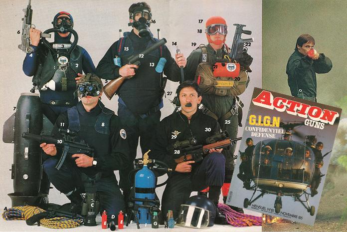 GIGN: Les spécialistes (Reportage Action Guns 1989, magazine n°81)