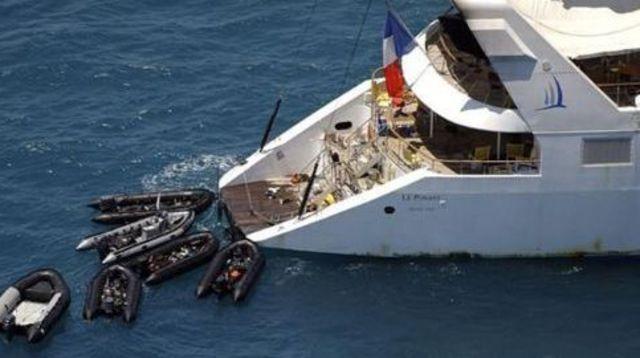 Missions : opération Ponant, piraterie maritime (11/04/2008)